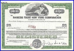 Bankers Trust New York Corporation. Specimen Stock Certificate