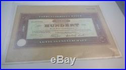 Bayer Gründungsaktie 100 DM von 1953! Sammleraktie nicht entwertet