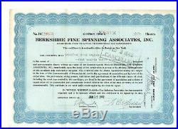 Berkshire Fine Spinning Associates 1942 später Berkshire Hathaway Buffett
