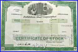 Bethlehem Steel Corporation 1986 manufacturing stock certificate