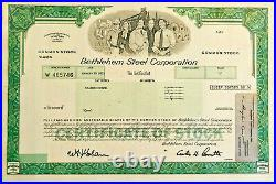 Bethlehem Steel Corporation stock certificate