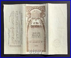 CHARLESTON SENATORS, INC, 1931 Stock Certificate, SIGNED W. B. POWELL FRONT/BACK