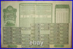 CHINA Chinese Government Hukuang Railway 5% Gold Bond 1911 £20 BIC +coupons