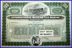 COLLECTION of 3 DIFF RARE ORIGINAL TITANIC STOCKS w SHIP! BUY 2 LOTS GET 6 DIFF