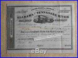 CONFEDERATE GENERAL Joseph E. Johnston Signature RR STOCK/Selma ALABAMA/1867