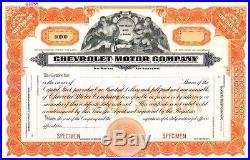 Chevrolet Motor Company circa 1915 specimen Stock Certificate