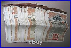 China 1913, 1937, 1947 Chinese Gold Bond, Mexico, German, Mexican Bonds 335 pcs