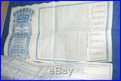 China 1913 Chinese Republic 5 % Gold Loan 20 Pd, Lung-Tsing-U-Hai Rwy, coupons