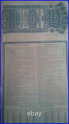 China 1913 Lung Tsing U Hai Railway Bond Super Petchili passco chinese pass-co