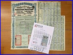 China Chinese Government 1913 Lung Tsing U Hai £20 Bond With 42 Coupons & Passco