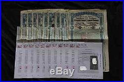 China Government 1913 Lung Tsing U Hai Bond With Coupons Super Petchilli