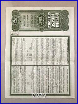 China1909 Chinese Government Gold Loan Bond £20 Uncancelled