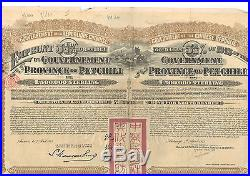 Chine Petchili 20 livres 1913 With coupons