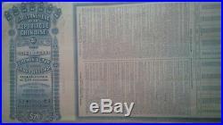 Chinese 5 Pcs- 1913 Lung Tsing U hai Railway bonds (Super Petchili) With PASS-CO