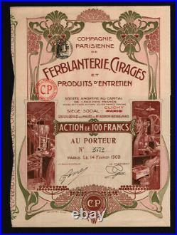 Compagnie Parisienne de Ferblantanterie, Cirages et Produits d´Entretien 1903