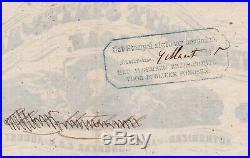 Confederate CSA One Hundred Dollar Bond with Thirteen Coupons