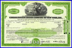 Consolidated Edison Company of New York Stock Certificate Excellent Condition