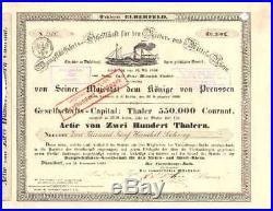 Dampfschifffahrt für den Nieder und Mittel-Rhein Düsseldorf Aktie 1839 KD Köln