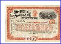 Denver and Rio Grande Railroad Company 1886