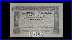 Deutsch-amerikanischer Bergwerks-Verein Nov. 1826 halbe Aktie selten