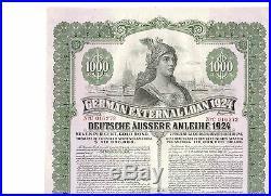 Deutsche Äussere Anleihe 1924 / German External Loan