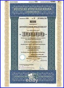 Deutsche Hypothekenbank in Bremen 10000DM 1964