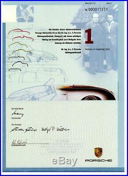 Dr. Ing. H. C. F. Porsche AG Aktie Vorzugsaktie 1 Stück Stuttgart 2001