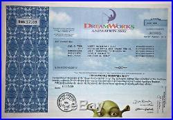 DreamWorks Animation Shrek Trolls Boss Baby original stock certificate share