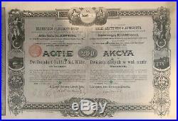 EINZELSTÜCK RAR Gründer Aktie 1872 der k+k priv. Erzherzog-Albrecht-Bahn