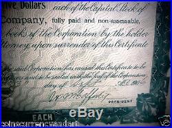 East brady Woolen Company 1906 shares Scarce Historical Document Pennsylvania
