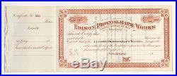 Edison Phonograph Works Stock Certificate