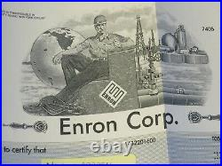 Enron Corp. Stock Certificate, RARE Wall Street NYSE Stock Market! 235264