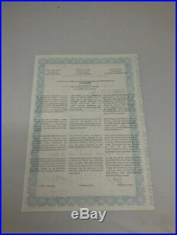 GENUINE EURO DISNEY STOCK CERTIFICATE EXCELLENT CRISP MINT CONDITION WithMICKEY