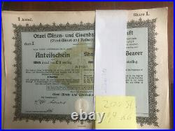 GH Angebot 200 Stück Otavi Minen- und Eisenbahn, 1921, ungelocht/ uncancelled