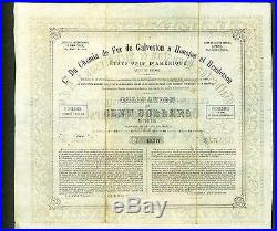 Galveston Houston and Henderson Railroad 1857 10% Texas Uncancelled Bond stock