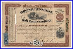 General William Mahone Virginia and Tennessee Railroad Bond