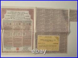 German Gold Loan 1000 francs 1930 uncancelld Young international Government bond