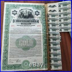Germany 1928 City Frankfort Main 1000 Dollars Gold NOT CANCELLED Bond ABNC