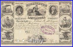 Harrisburg Portsmouth Mount Joy And Lancaster Railroad Company 1852 Stock Cert