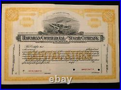 Hawaiian Commercial And Sugar Company Limited Specimen Stock Certificate Scarce