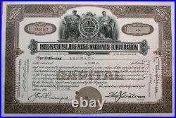 IBM'International Business Machines' 1945 OLD VERSION Stock Certificate