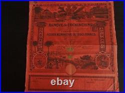 Indo China Bank of Cochinchine 1908