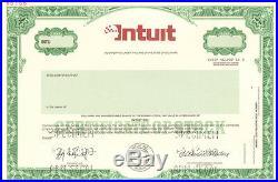 Intuit maker of TurboTax QuickBooks and Quicken stock certificate specimen