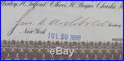 John Archibold & William Rockefeller Signed Standard Oil Trust Stock Certificate