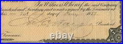 James C. Fargo American Express Company Stock Certificate