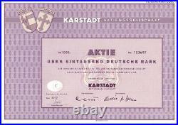 Karstadt AG 1000DM Hamburg 1965