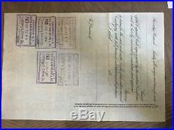 Keweenaw Copper Company of Michigan Stock Certificate 1914 Mining Lake Superior