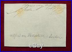 LONDON Bankier ALFRED de ROTHSCHILD Autograph