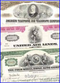 Lot 100 verschiedene Stocks and Bonds USA Aktien / Anleihen