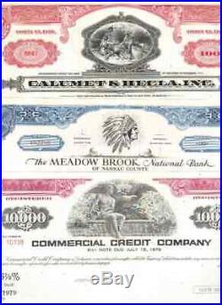 Lot 100 verschiedene USA Aktien / Bonds Top Auswahl